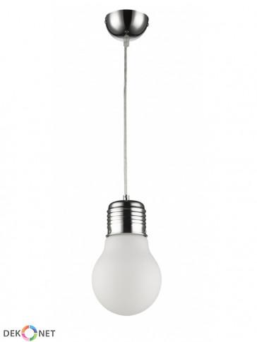 Lampa wisząca FLO 152-1 mleczna - 1 płomienna