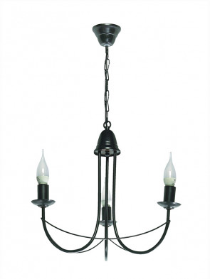 Lampa wisząca Nikozja 3 czarna
